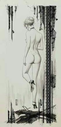 Femme nue de dos - album érotique d'Olivier Ledroit